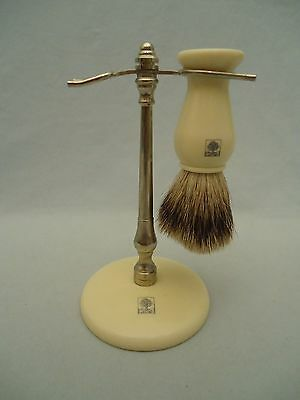 Best Badger Bristles CRABTREE & EVELYN Edwin Jagger England Shaving Brush STAND