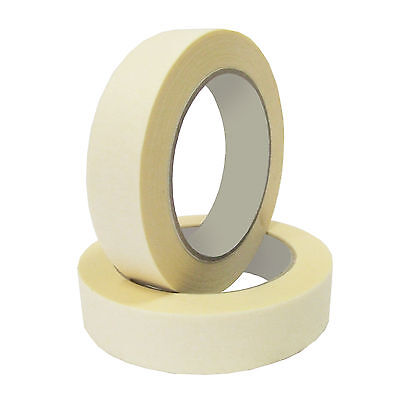 12 Rolls of Masking Tape 25mm x 50m General Purpose Best Quality BULK BUY