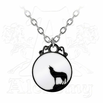 Alchemy Gothic WOLVEN MOON Pendant NECKLACE Howling Wolf & Full Moon Wolves Howl