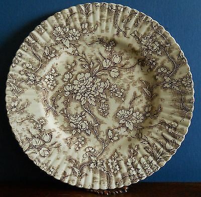 A Vintage Booths Tapestry dinner plate in brown dated 1942