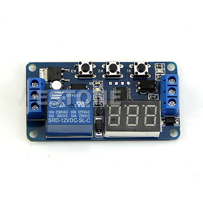 LED Home Automation Delay Timer Control Switch Relay 12V Module Digital display