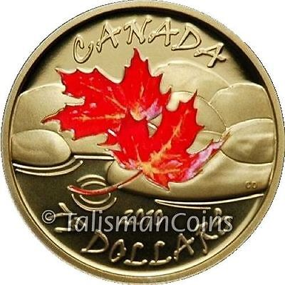 Canada 2010 Four Seasons Autumn Fall $75 Gold Proof Color Red Maple Leaf GML