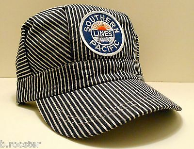 Southern Pacific Railroad Train Engineer Hat Adult One Size Fits All Blue