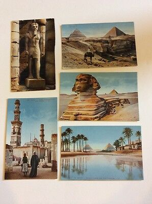 Antique Lot Of Egyptian Postcards Cairo Pyramids Sphinx Ramses Luxor EGY1
