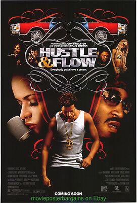 HUSTLE AND FLOW MOVIE POSTER Original DS 27x40 TERRENCE HOWARD 2005