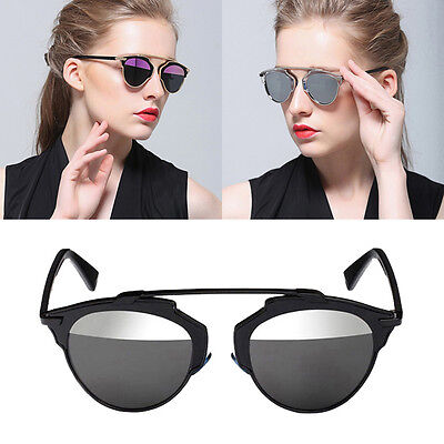 So Real Women Men Sunglasses Christian Designer Cat Eye Vintage Mirror Lens 2015