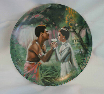 "Edwin M. Knowles China - ""We Kiss In A Shadow"" Collector Plate"