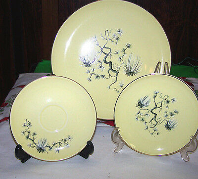 RARE!  YELLOW MING DINNERWARE FROM TAYLOR SMITH & TAYLOR. NEW IN BOX 1950's.