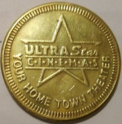 ULTRA STAR C-I-N-E-M-A-S - YOUR HOME TOWN THEATER TOKEN - BU