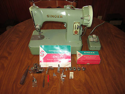 HEAVY DUTY SINGER SEWING MACHINE 185 J3 CLEANED AND OILED