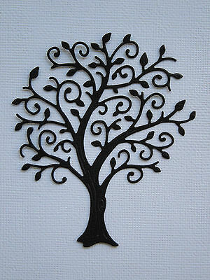 Tree Paper Die Cuts x 6 Scrapbooking Card Topper Embellishment