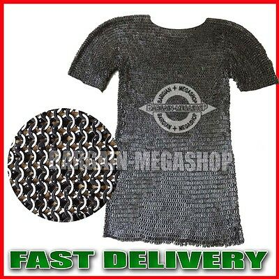 Chainmail Shirt  Flat Riveted with Flat Washer Medieval Chain mail Haubergeon