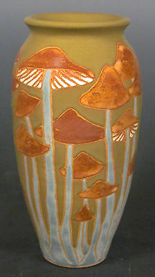 Common Ground Pottery Mushroom vase, art pottery, arts and crafts pottery