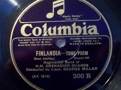 "GEORGE MILLER ""Light Cavalry Ouverture"" Columbia 80rpm"