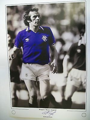 A 16 x 12 inch print featuring Colin Jackson of Rangers personally signed by him