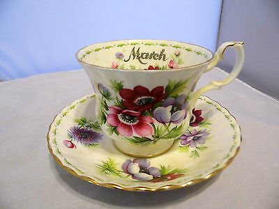 Vintage Royal Albert Bone China England flower series Anemones /cup & saucer