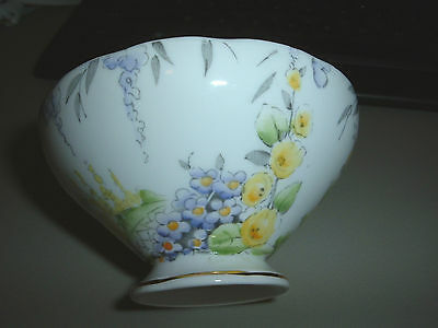 FOLEY ENGLISH BONE CHINA OPEN SUGAR BOWL - SPRING FLORALS - FREE SHIPPING - MINT