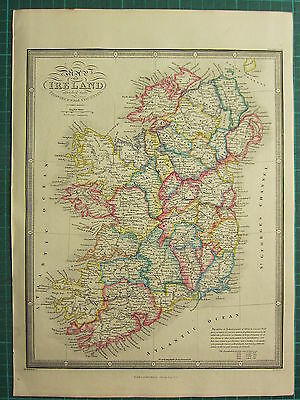 1872 JAMES WYLD MAP ~ IRELAND CONNAUGHT LEINSTER ULSTER MAYO etc ~ HAND COLOURED