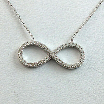 Sterling Silver CZ Infinity Ladies Necklace