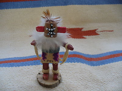 """VINTAGE  AMERICAN  INDIAN   SMALL  KACHINA DOLL  4"""" TALL  SIGNED"""