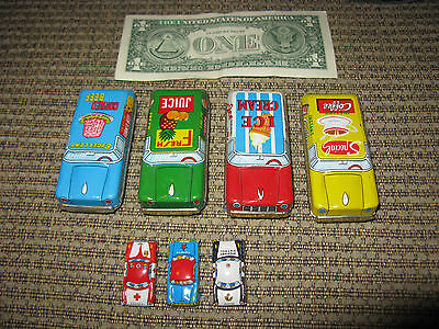 Vintage Lot of Japanese Tin Toy Cars