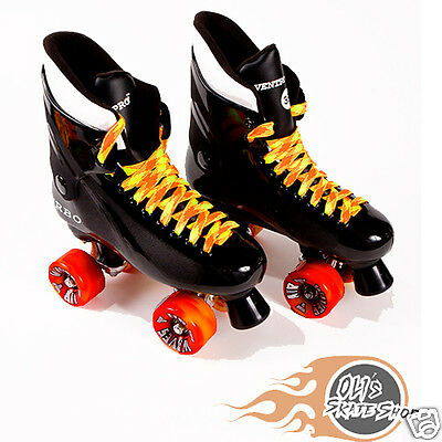 Ventro Pro Turbo Quad Roller Skate, Bauer Style - Orange/Yellow