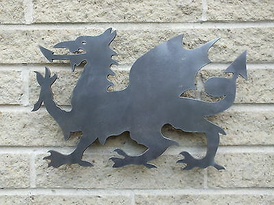 Welsh Dragon Profile in Mild Steel, for Weathervanes or Features in Gates