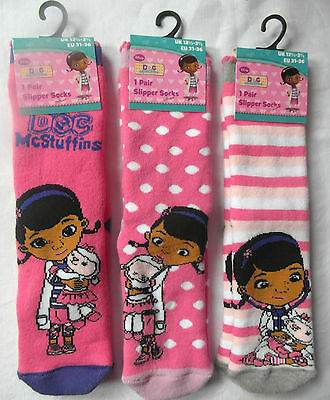Girls Character Slipper Socks with Grippers  - DOC McStuffins