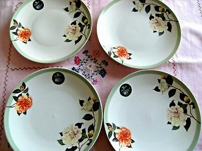 Queens by Churchill Royal Horticultural Society 4 New China Dinner Plates Roses