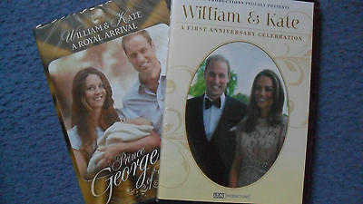 William & Kate 2 x DVD's A First Anniversary Celebration & A Royal Arrival
