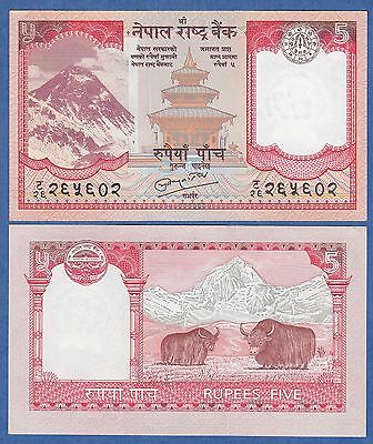 2010 Nepal Pick 60 UNC sign.19 5 Rupees ND