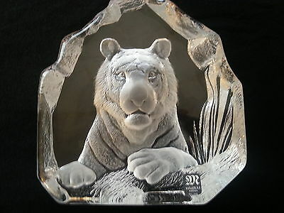 Mats Jonasson Handcrafted Full Lead Crystal Bengal Tiger