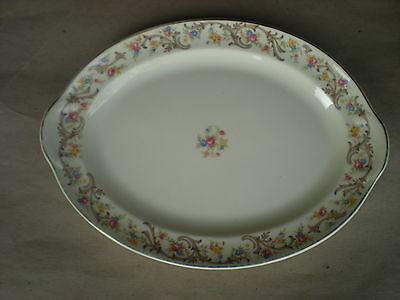 "Taylor Smith & Taylor SHERIDAN 13"" x 10"" Platter Floral Scroll 8464"