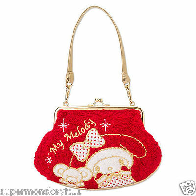 SANRIO HELLO KITTY MY MELODY RED CHRISTMAS XMAS PLUSH SHOULDER POUCH WALLET