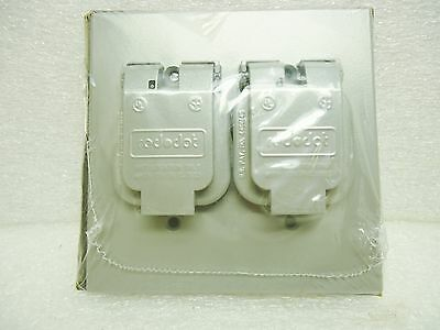 "Red Dot 2CCS Single  Two Gang 1.485"" Receptacle Cover Die Cast Aluminum"