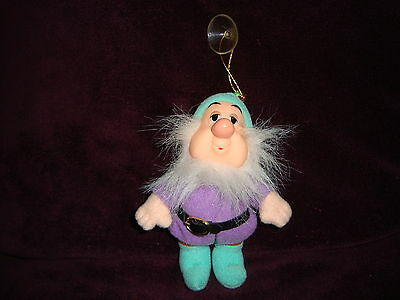 "Disney Dwarf Sneezy Plush Ornament with suction cup 4.5"" tall"