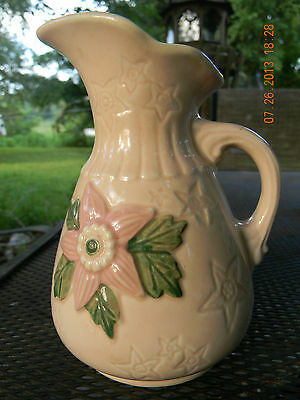 Vintage Hull Pottery Classic Ewer-1942/1945-Pink Flower & Stars-FREE SHIPPING