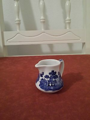 Shenago China Small Pitcher Willow Blue