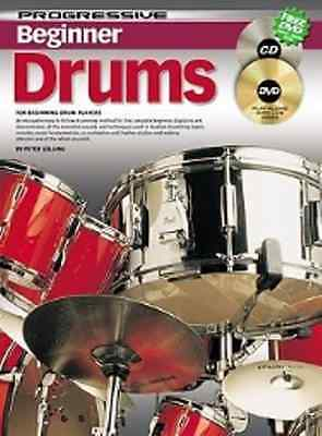 Progressive Beginner Drums Book includes DVD & Cd