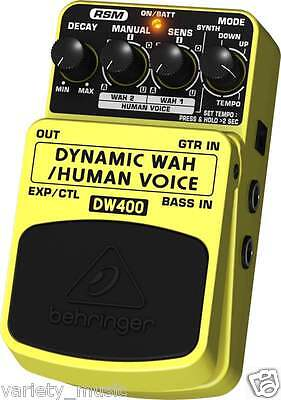 Behringer DYNAMIC WAH DW400  Ultimate Auto-Wah/Human Voice Effects Pedal