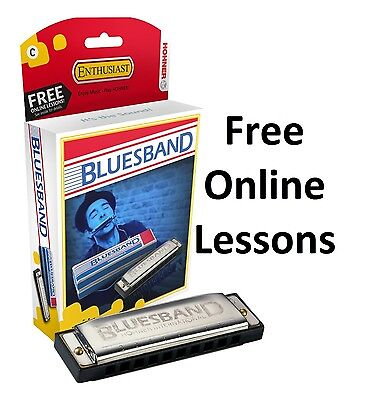 Hohner Blues Band Harmonica key of C, free online lessons