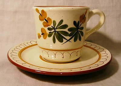 STANGL Golden Blossom Two Cup and Saucer Sets, Perfect!
