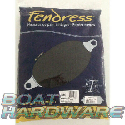2 x FENDER COVERS PAIR BLACK Large 700x240mm Fender Socks Mooring Boat Yacht