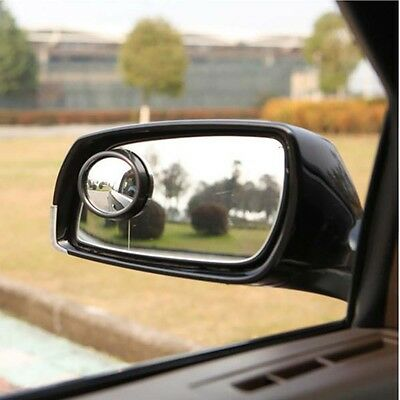 2 Car Rearview Mirror Blind Spot Side Rear View Convex Wide Angle Adjustable