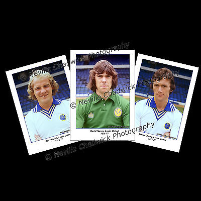 "Leeds United, Players of the 70's Collection Portraits, 7""x 5"" prints 1976-77"