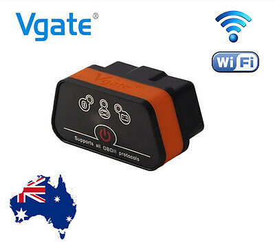2017 VGATE iCar 2 OBD2 OBDII WIFI Car Diagnostic Scan Tool iPhone iPad Android