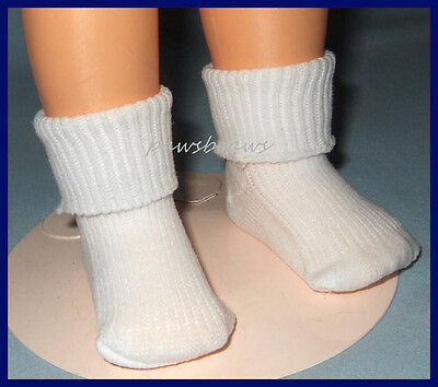 "Fold Over Cuff Rib Knit Ankle SOCKS Anklets for Ideal 16"" SHIRLEY TEMPLE"