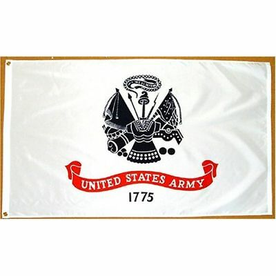 3x5 ft US ARMY OFFICIAL INSIGNIA US MILITARY FLAG OUTDOOR NYLON MADE IN USA