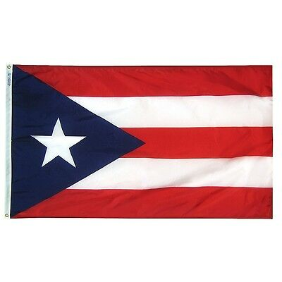 3x5 ft PUERTO RICO Isle of Enchantment OFFICIAL TERRITORY FLAG Nylon Made in USA