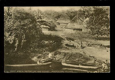 West Africa ethnic MAGFULOMU Village early PPC pub by Imperial Institute